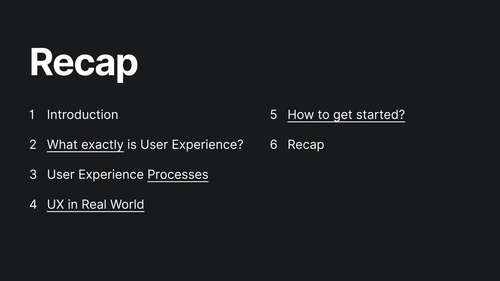 Recap Introduction  What exactly is User Experi...