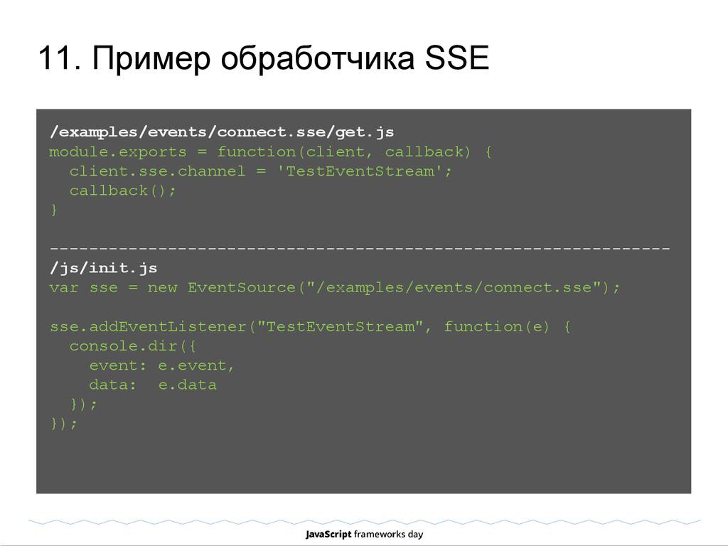 11. Пример обработчика SSE /examples/events/con...
