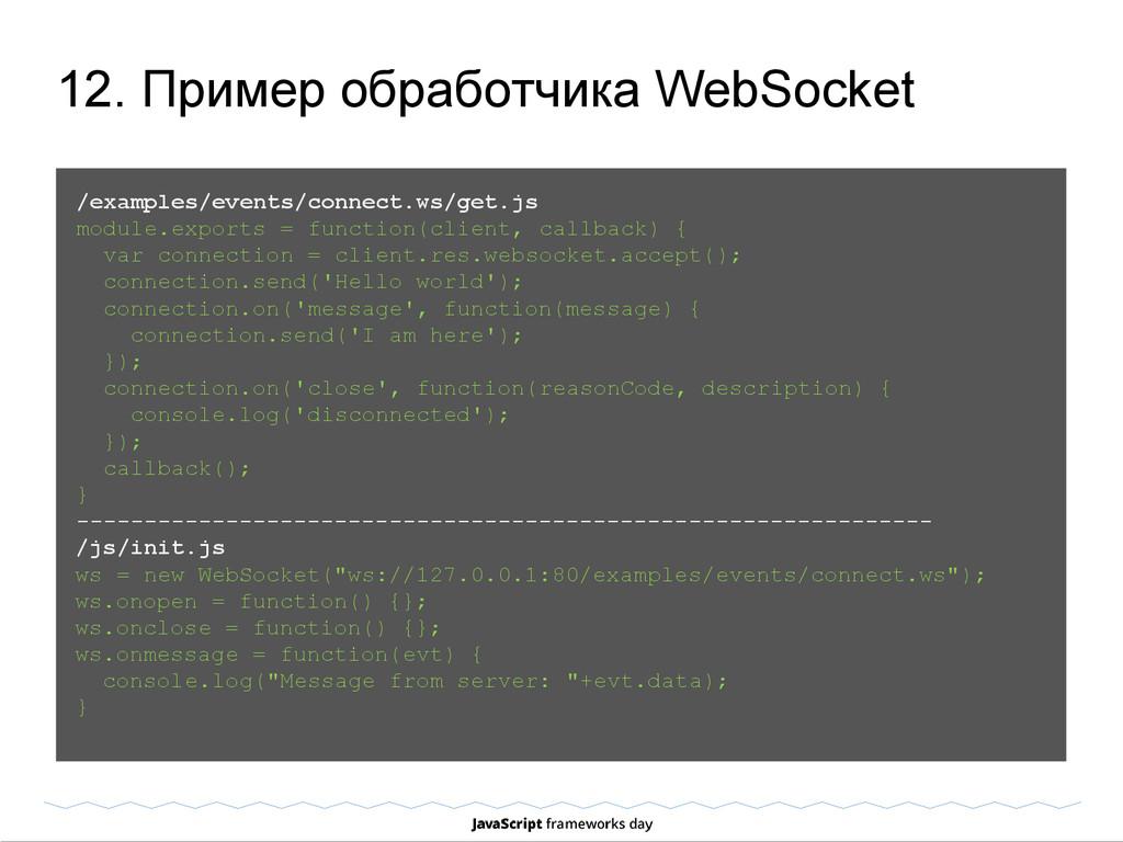 12. Пример обработчика WebSocket /examples/even...