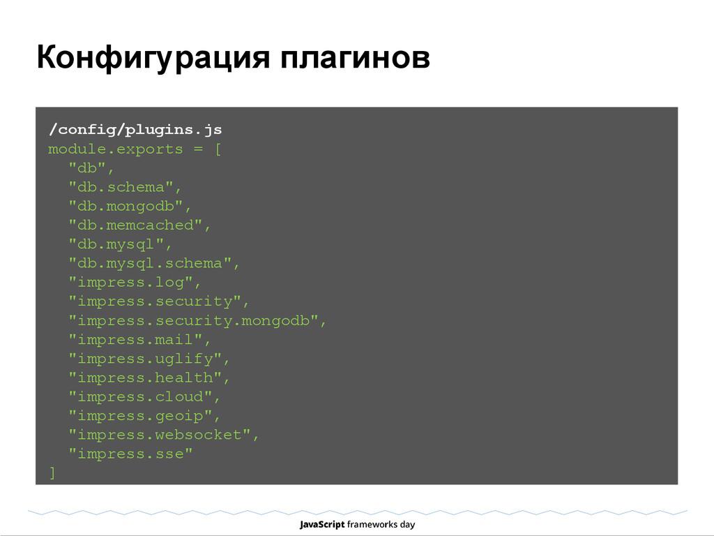Конфигурация плагинов /config/plugins.js module...
