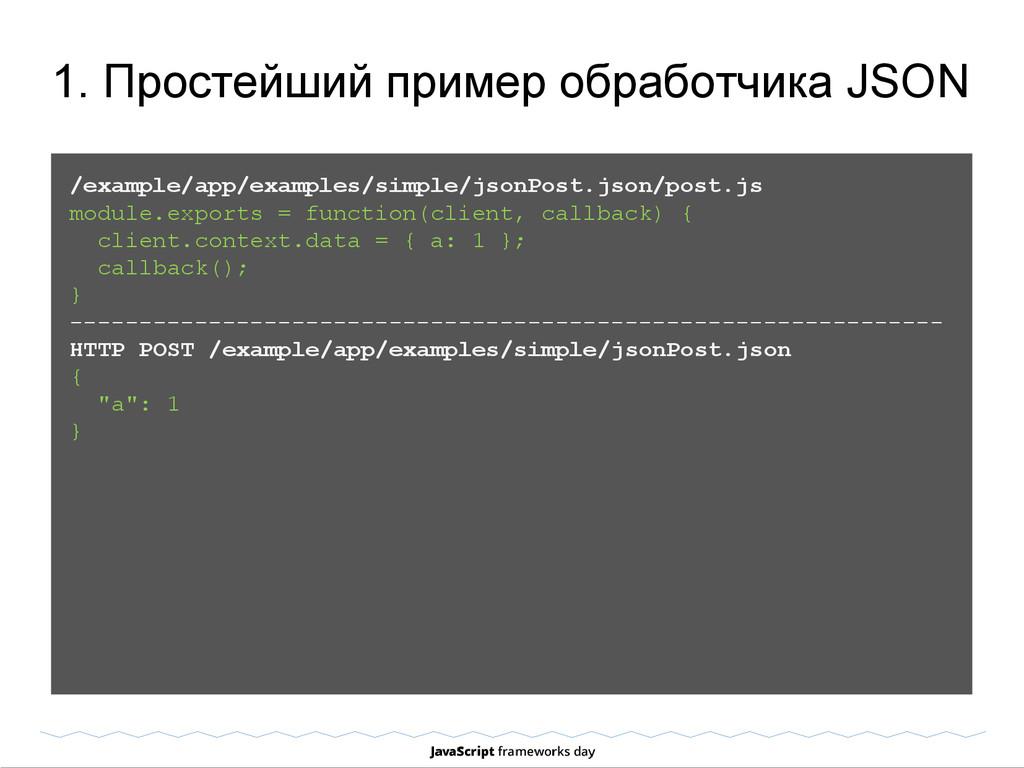 1. Простейший пример обработчика JSON /example/...