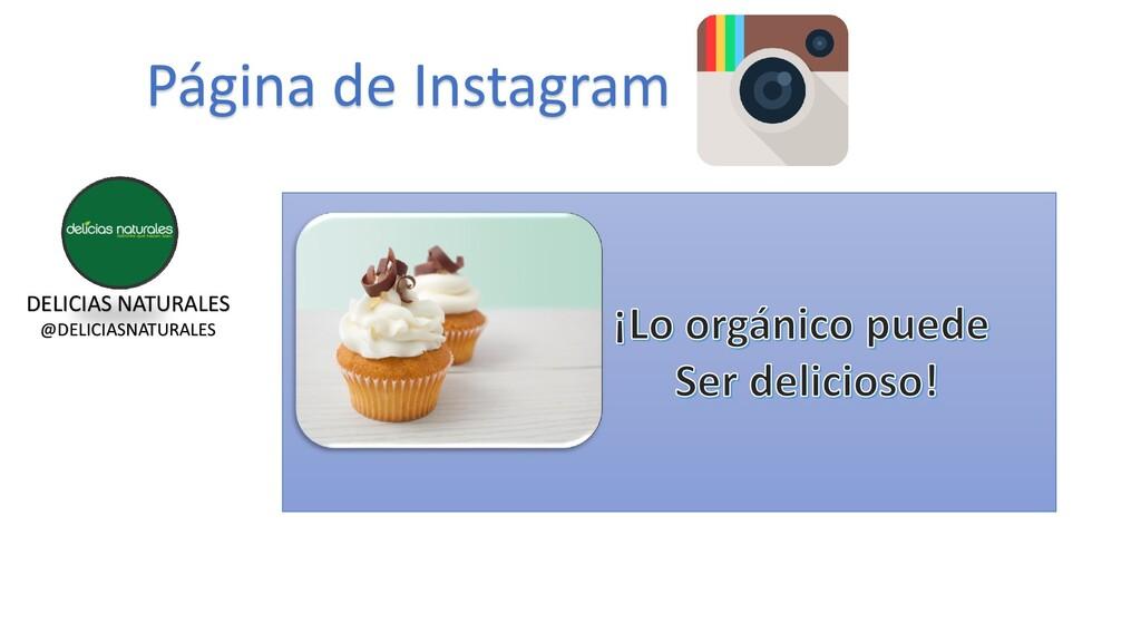Página de Instagram DELICIAS NATURALES @DELICIA...