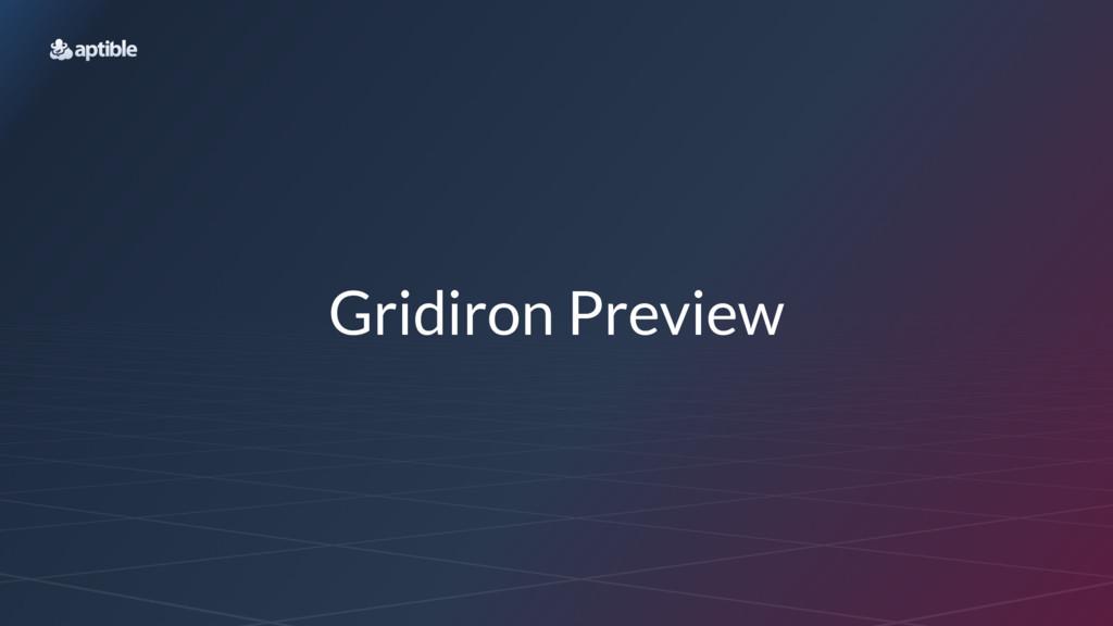 Gridiron Preview