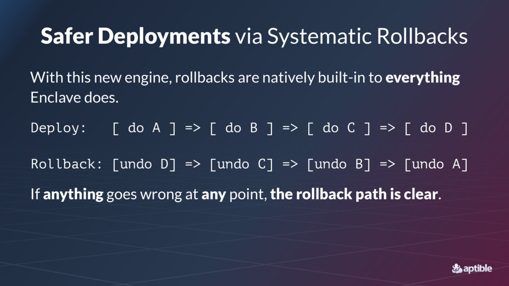 Safer Deployments via Systematic Rollbacks With...