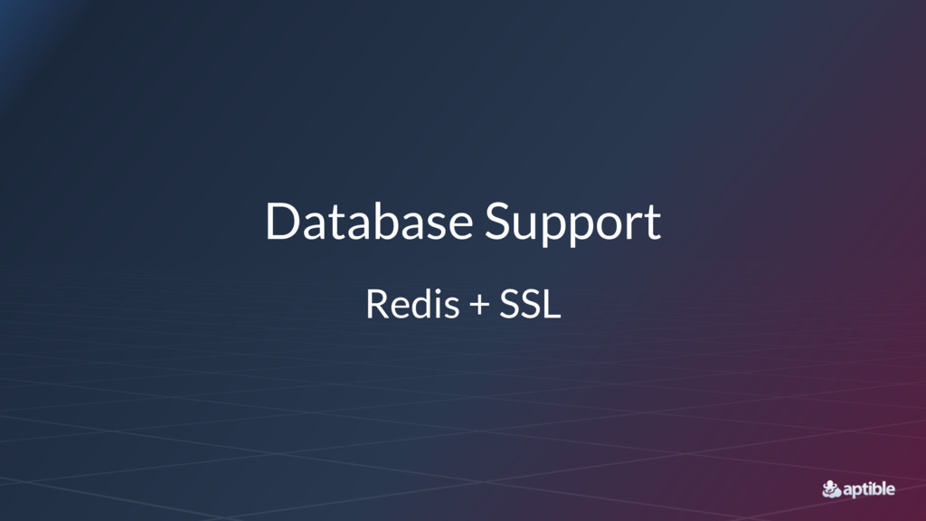 Database Support Redis + SSL