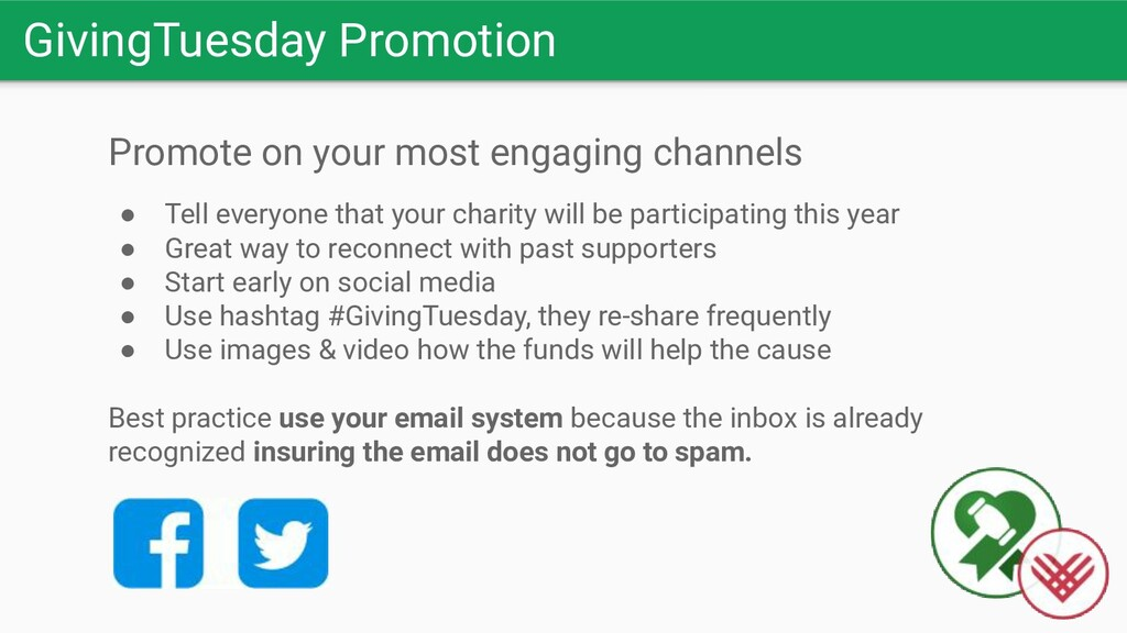 GivingTuesday Promotion Promote on your most en...