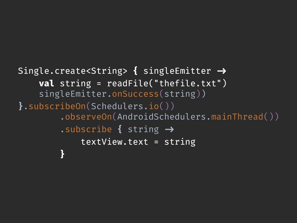 Single.create<String> { singleEmitter -> val st...