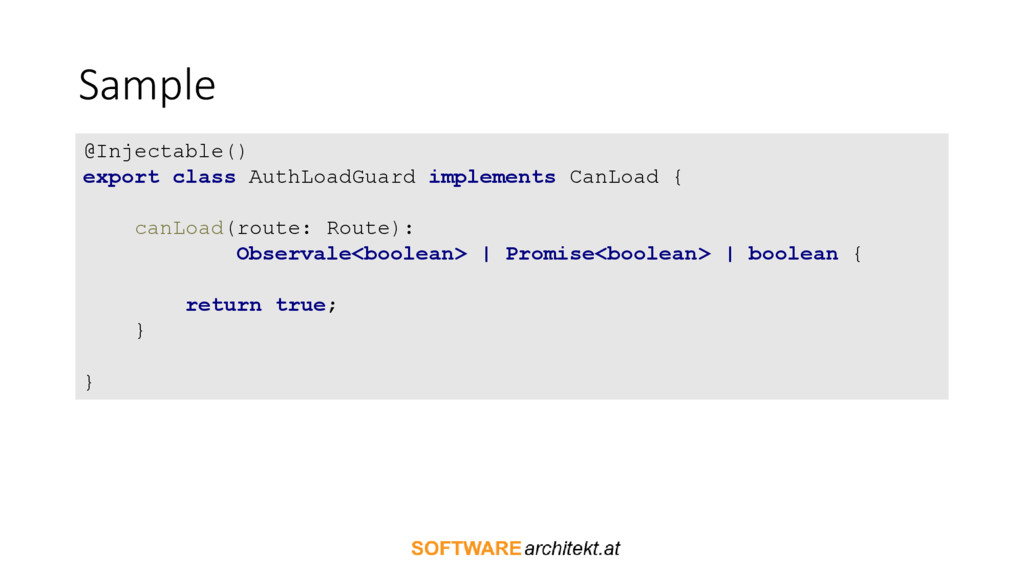 Sample @Injectable() export class AuthLoadGuard...