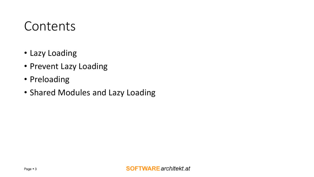 Contents • Lazy Loading • Prevent Lazy Loading ...