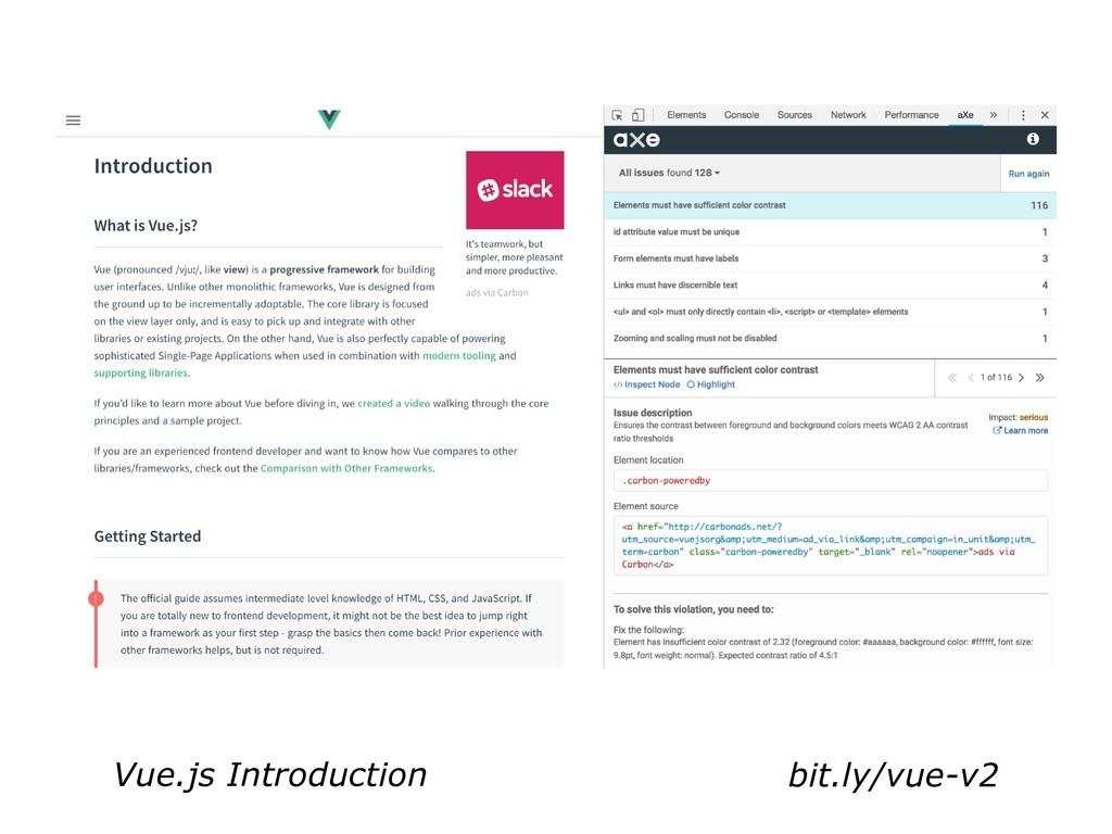 bit.ly/vue-v2 Vue.js Introduction