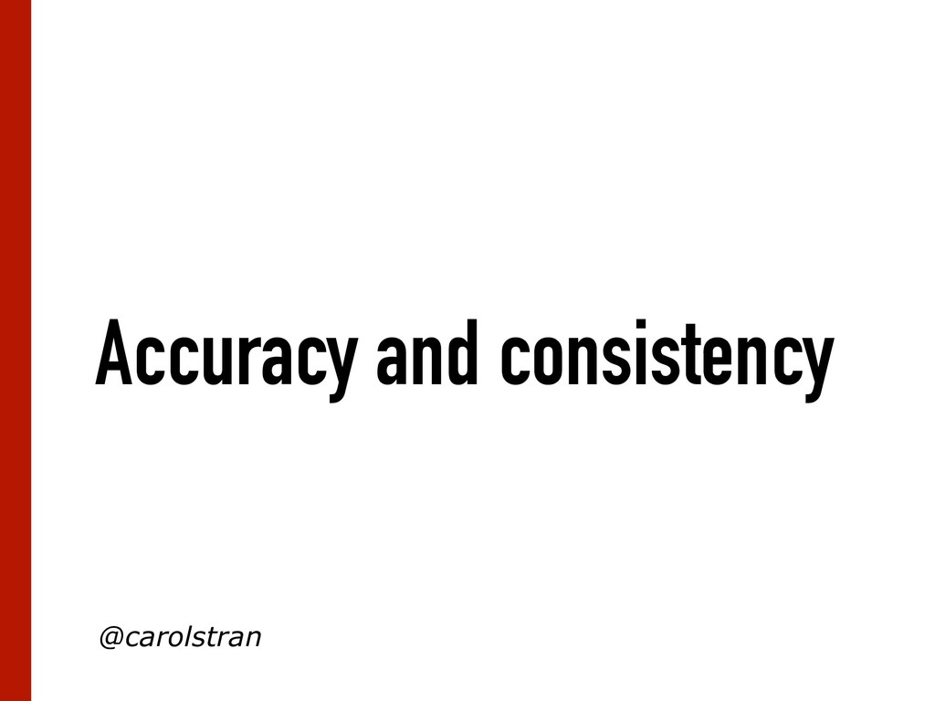 Accuracy and consistency @carolstran