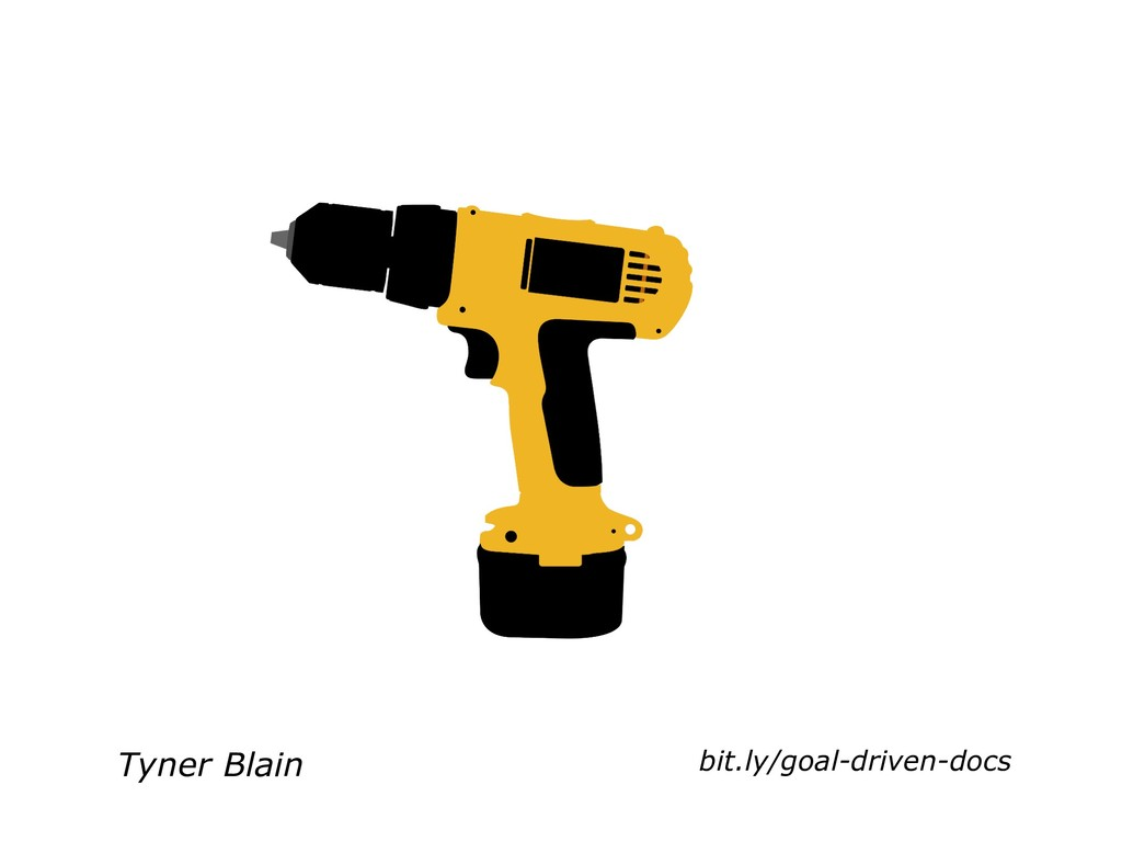 Tyner Blain bit.ly/goal-driven-docs