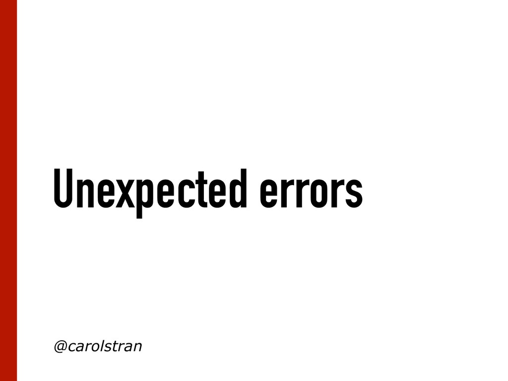 Unexpected errors @carolstran