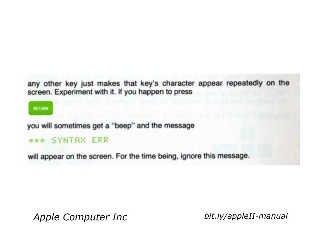 bit.ly/appleII-manual Apple Computer Inc