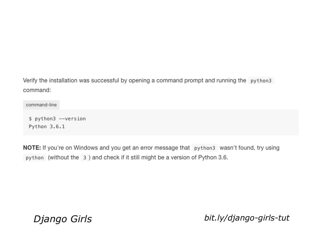 Django Girls bit.ly/django-girls-tut