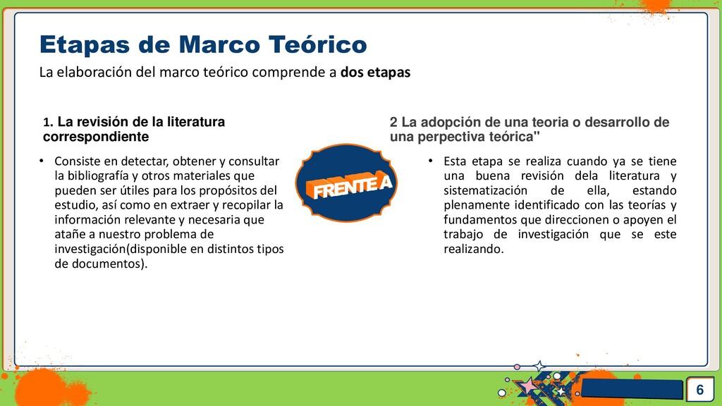 Pedro Armijo Etapas de Marco Teórico La elabora...
