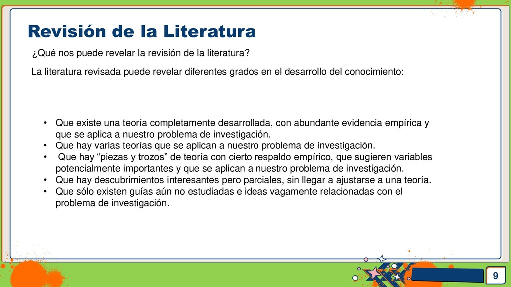 Pedro Armijo Revisión de la Literatura 9 ¿Qué n...