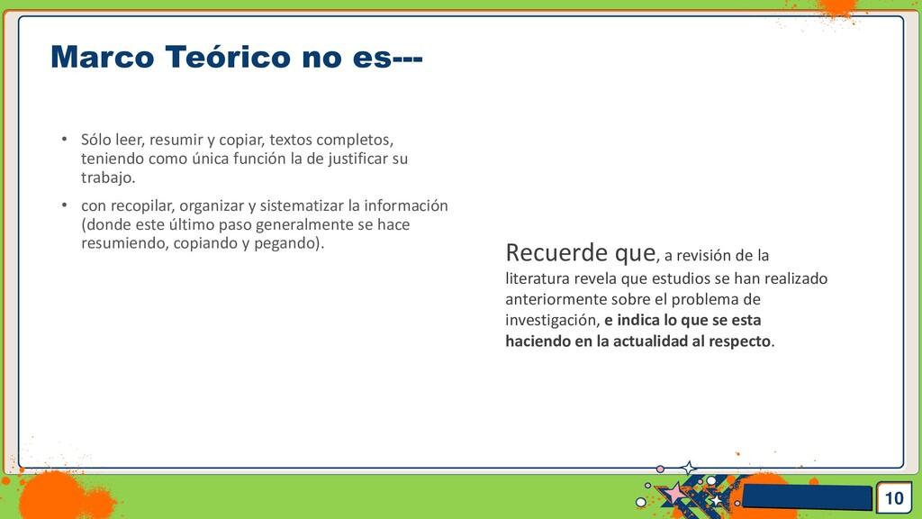 Pedro Armijo Marco Teórico no es--- 10 • Sólo l...