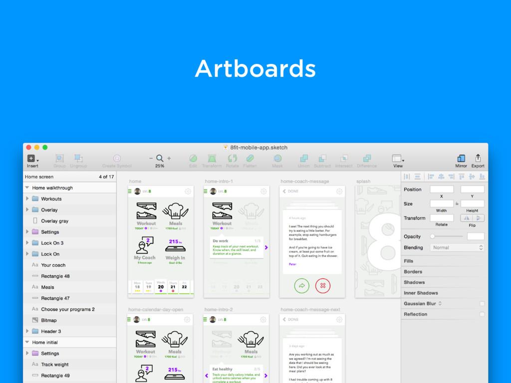 Artboards
