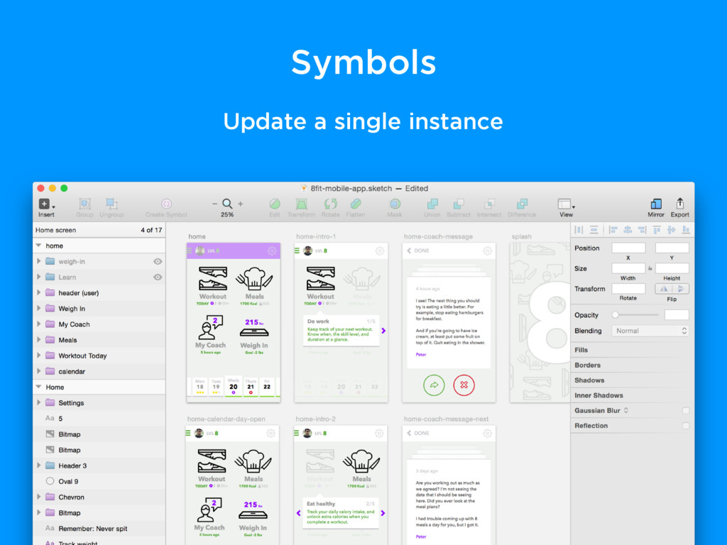 Symbols Update a single instance