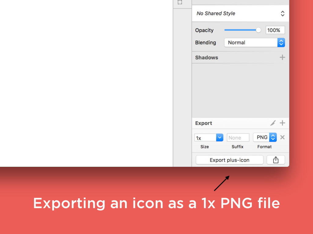 Exporting an icon as a 1x PNG file