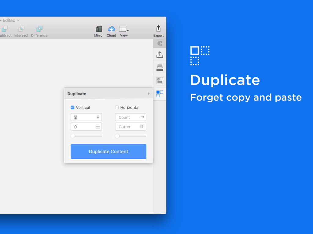 Duplicate Forget copy and paste