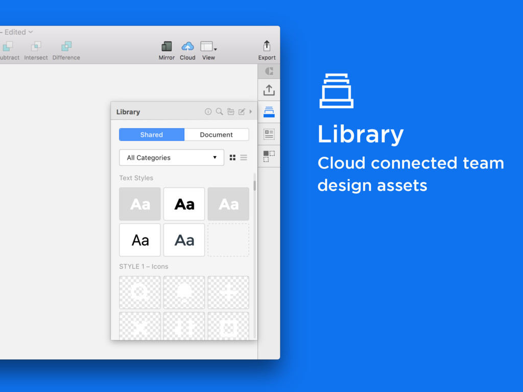 Library Cloud connected team design assets