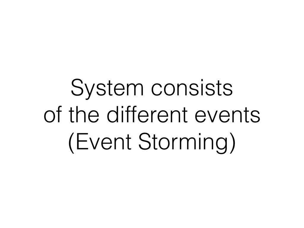 System consists of the different events (Even...