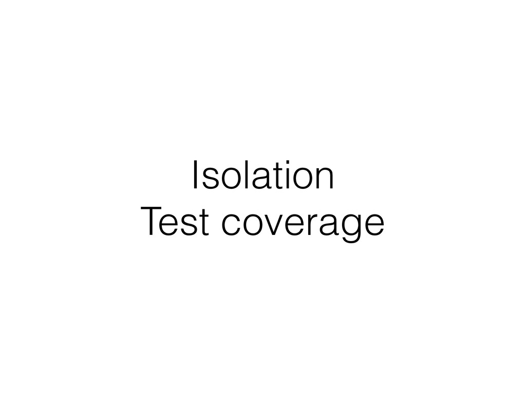 Isolation Test coverage