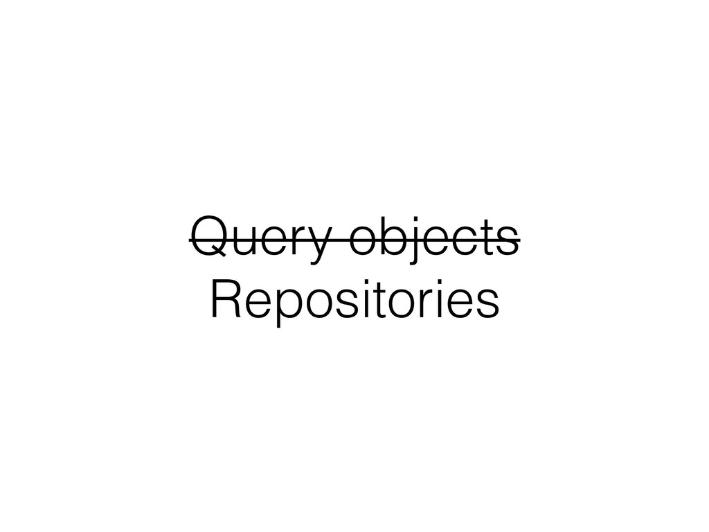 Query objects Repositories