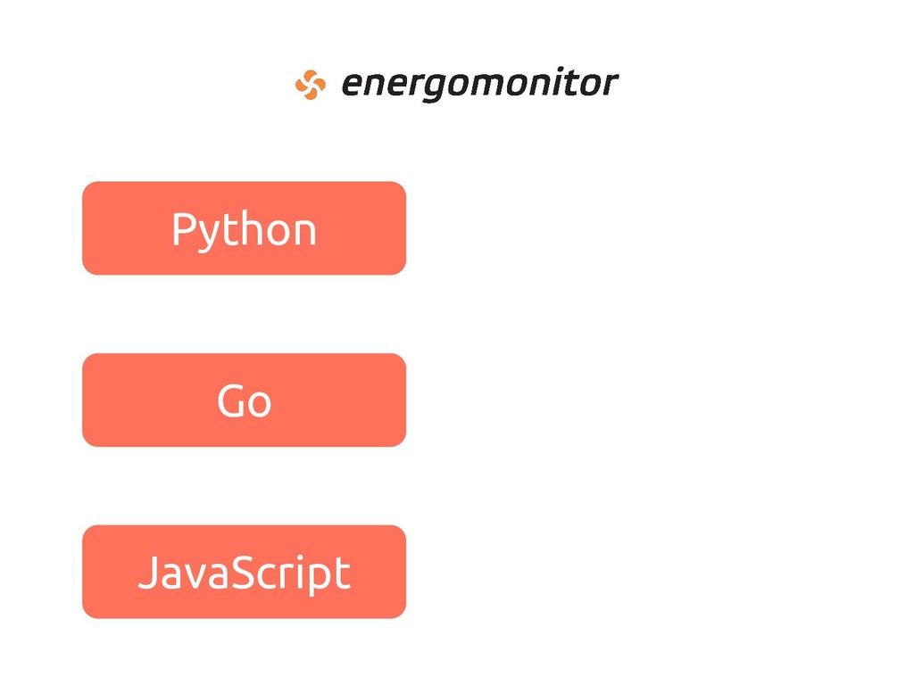 Python Go JavaScript