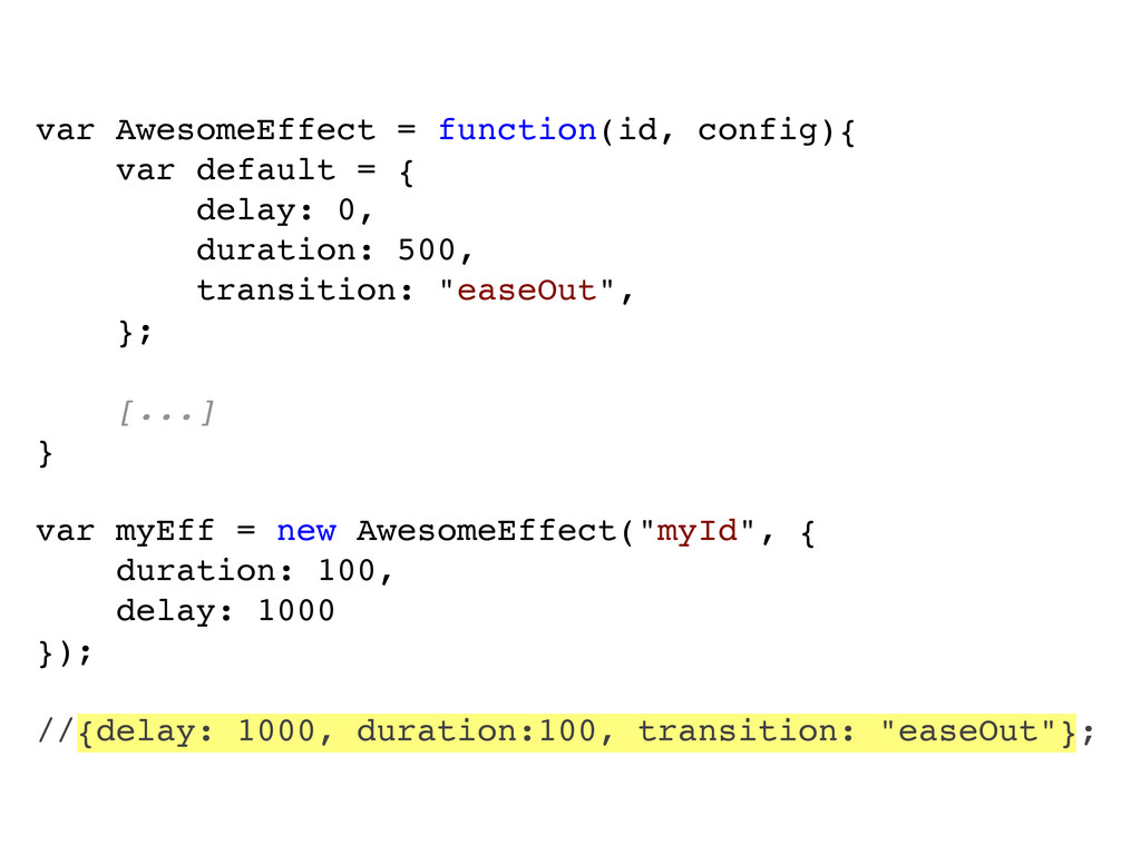 var AwesomeEffect = function(id, config){ var d...