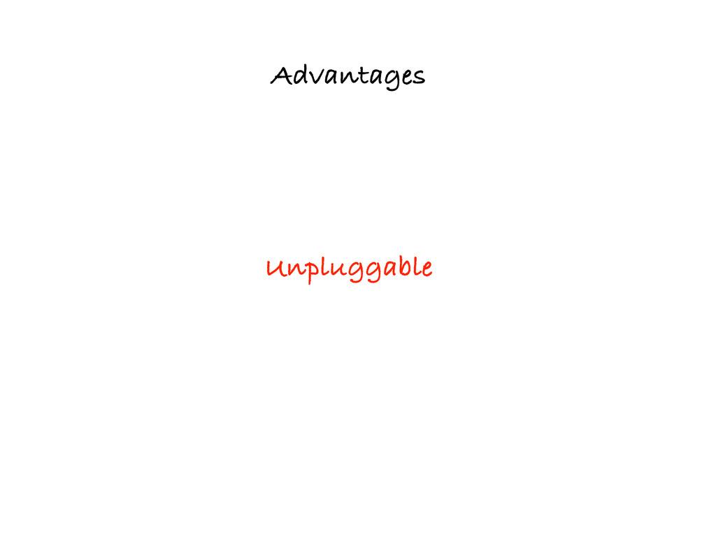 Advantages Unpluggable