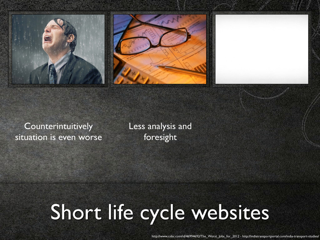 Short life cycle websites Counterintuitively si...