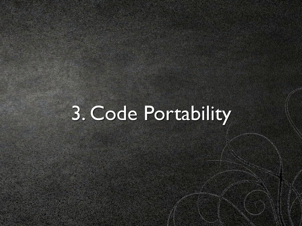 3. Code Portability