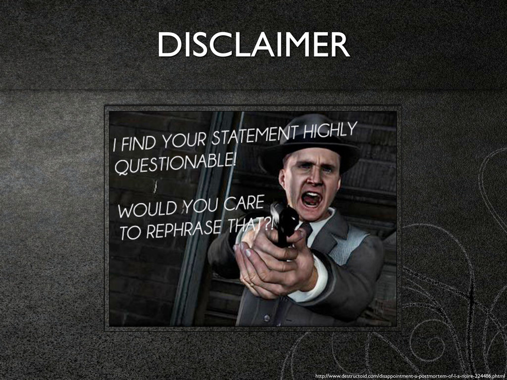 DISCLAIMER http://www.destructoid.com/disappoin...