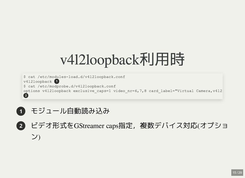 / v4l2loopback利用時 v4l2loopback利用時 1 モジュール自動読み込み...