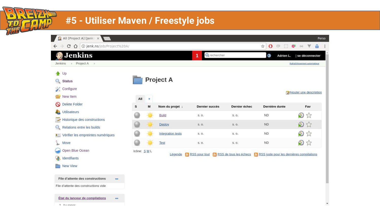 #5 - Utiliser Maven / Freestyle jobs