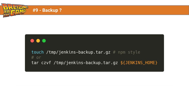 #9 - Backup ?