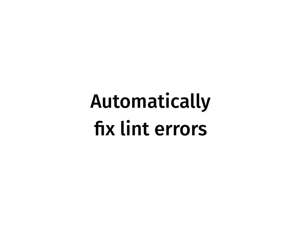 Automatically fix lint errors