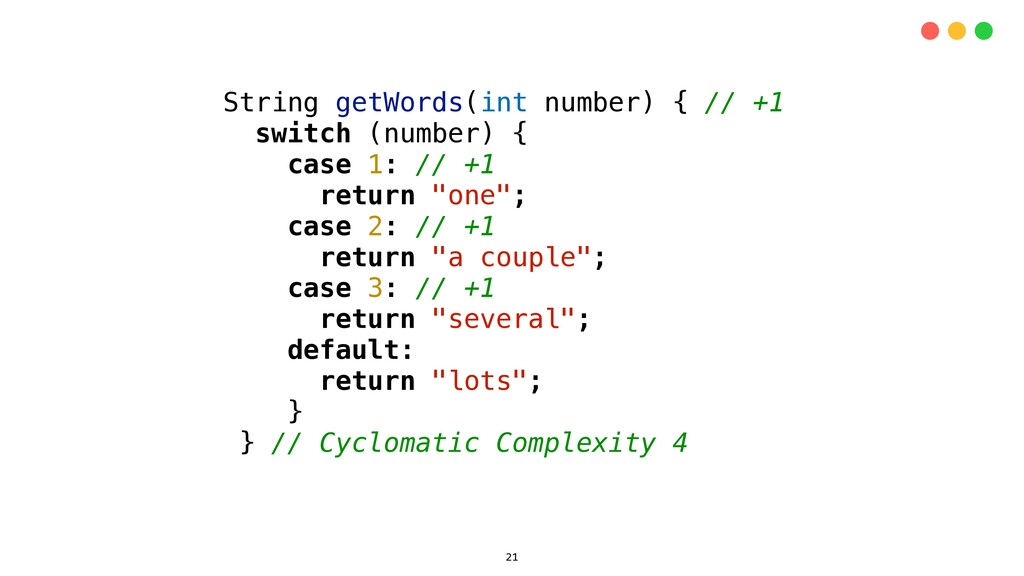 String getWords(int number) { // +1 switch (num...