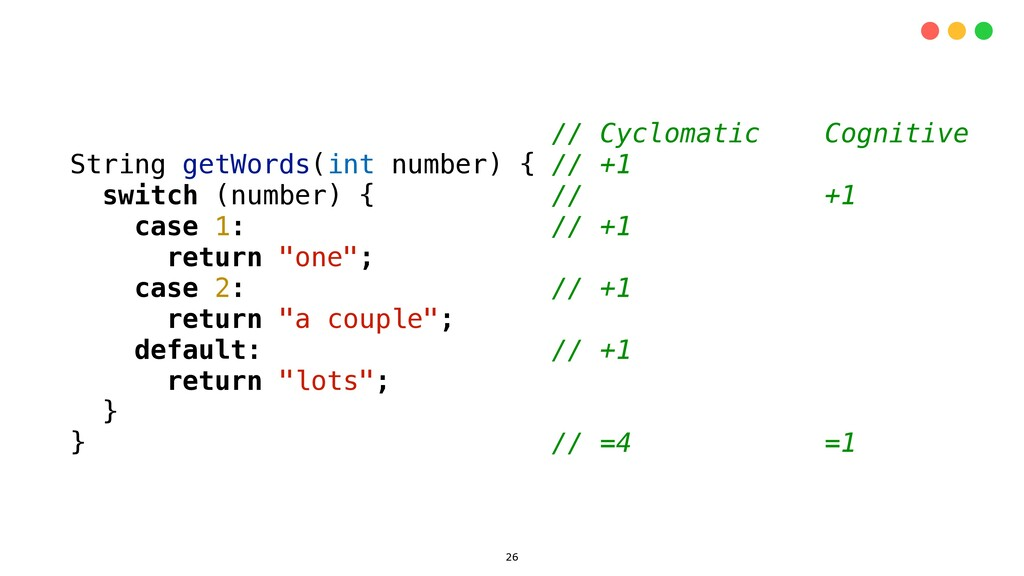 // Cyclomatic Cognitive String getWords(int num...