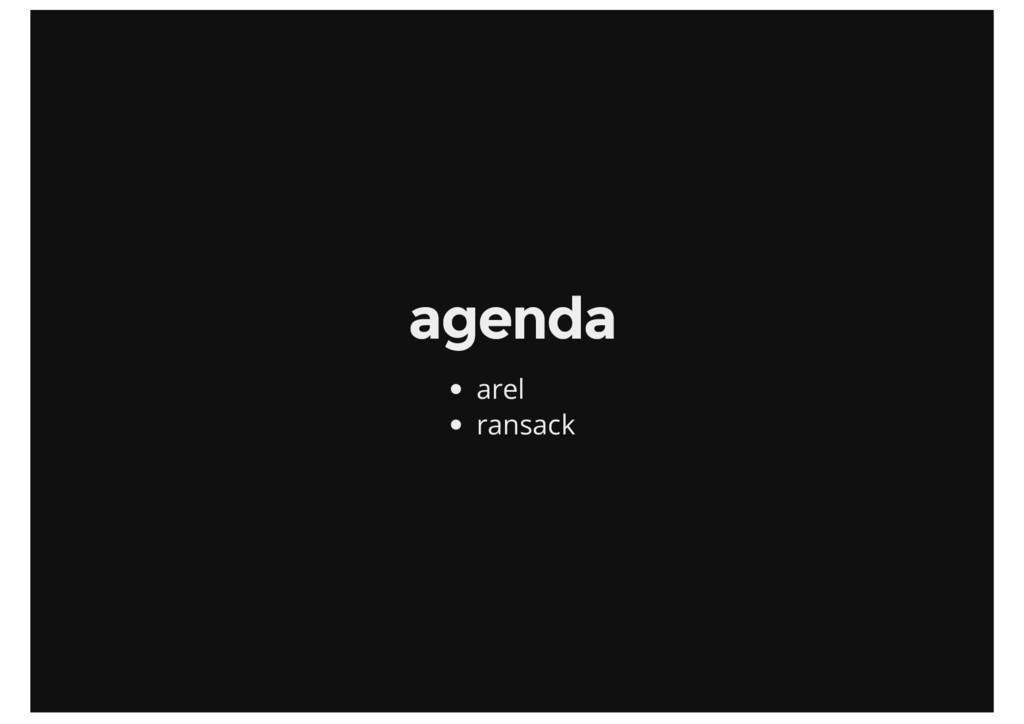 agenda arel ransack