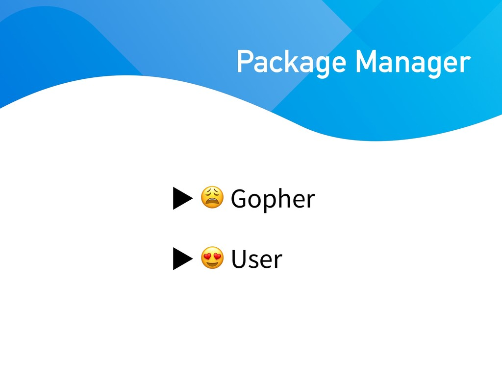 Gopher  User Package Manager