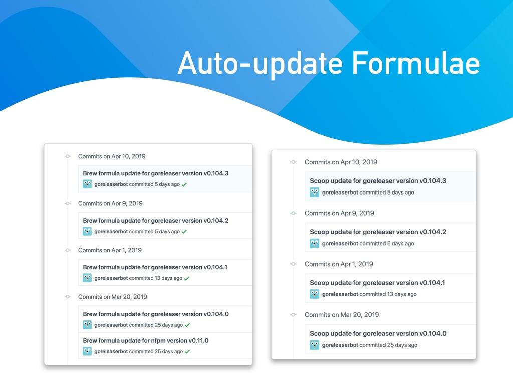 Auto-update Formulae