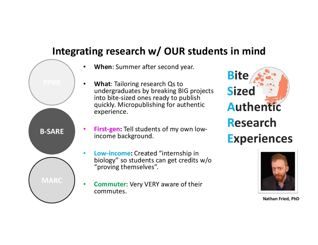 PPBR B-SARE MARC Integrating research w/ OUR st...