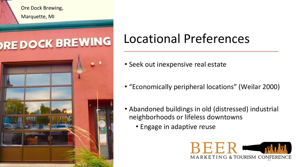 Locational Preferences • Seek out inexpensive r...