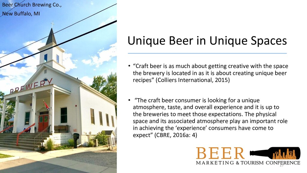 "Unique Beer in Unique Spaces • ""Craft beer is a..."