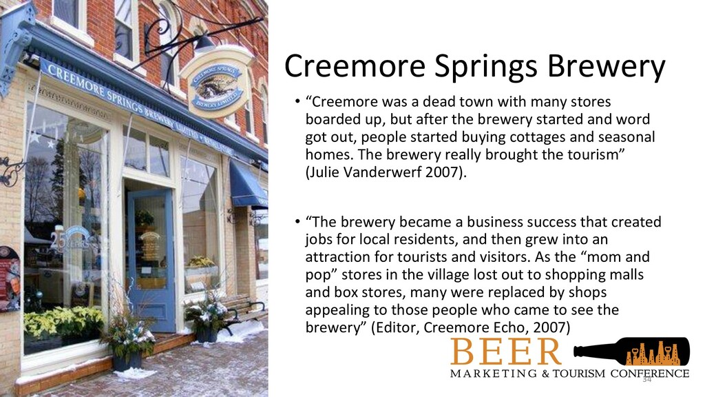 "Creemore Springs Brewery • ""Creemore was a dead..."