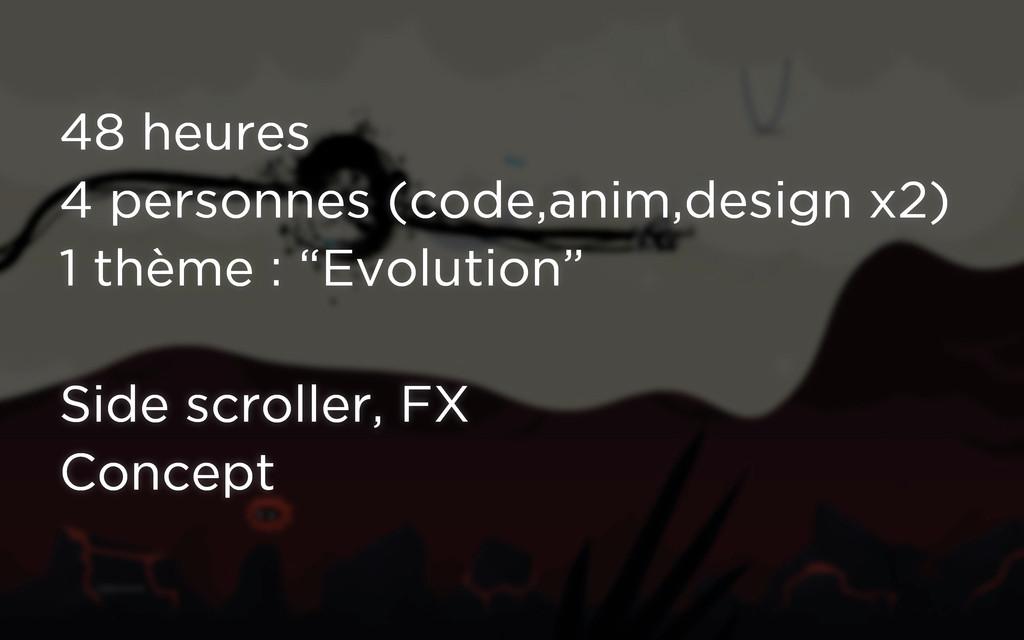 48 heures 4 personnes (code,anim,design x2) 1 t...